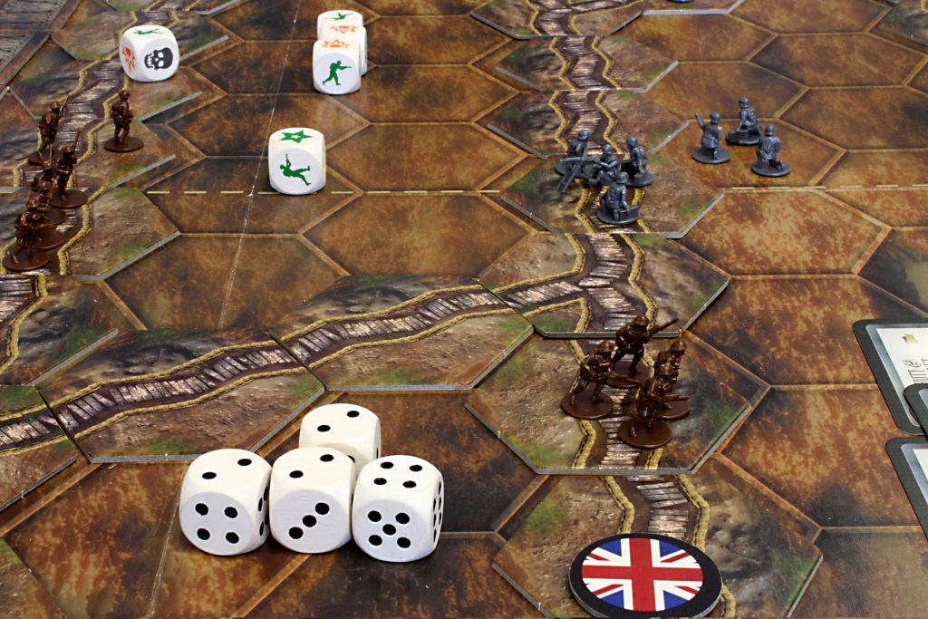 A 'Great War' game under way.