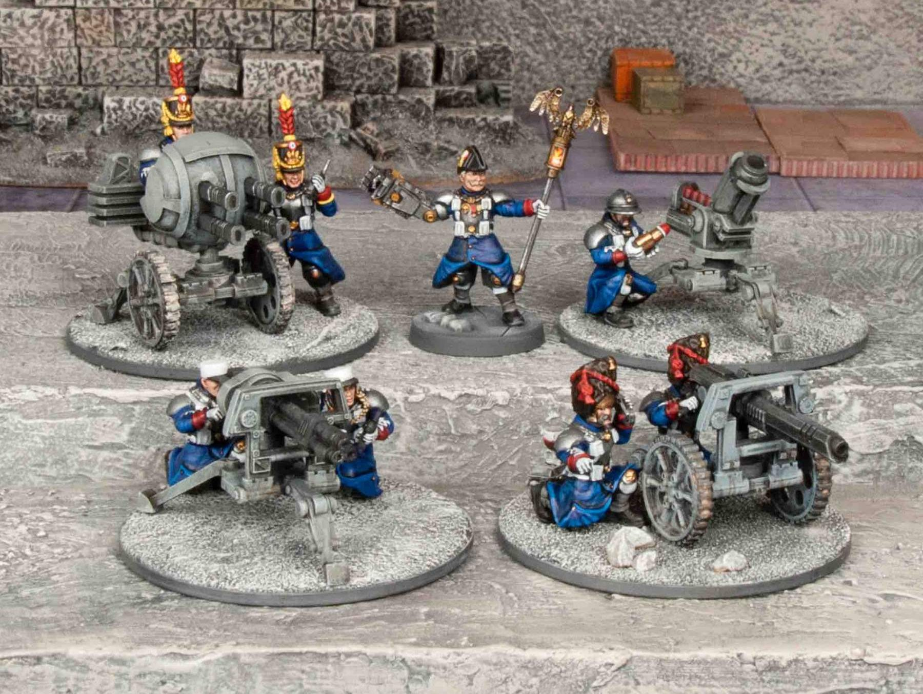 A selection of painted Grognard command and big guns